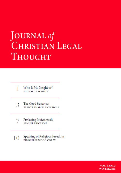 Journal of Christian Legal Thought - Winter 2015